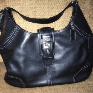 Coach Vintage Hamptons Hobo bag in leather black